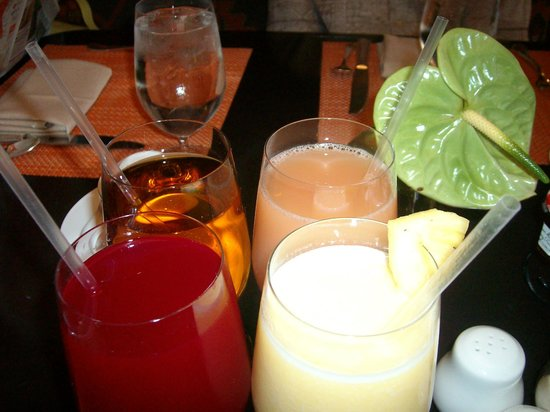 Che-Ah-Chi Restaurant at Enchantment Resort : Breakfast drinks