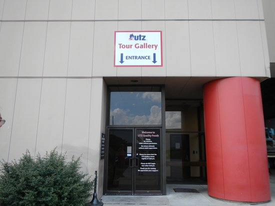 Utz Potato Chip Factory Tour: tour entrance
