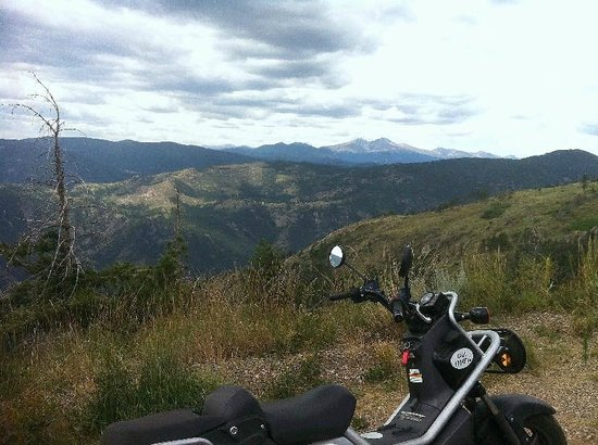 Estes Park Scooter Rentals: On Storm Mountain road