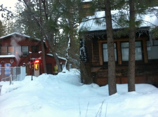 Timber Haven Lodge: Snow!