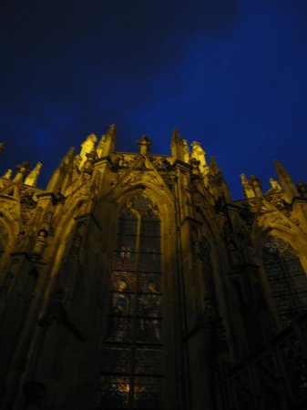 Sint Janskathedraal (St.-Johannes-Kathedrale): Sint Jan's at night, around the back