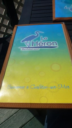 Restaurant Le Heron : Menu