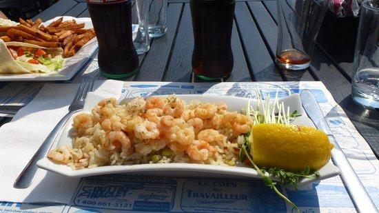 Restaurant Le Heron : Riz à l'ail et aux crevettes