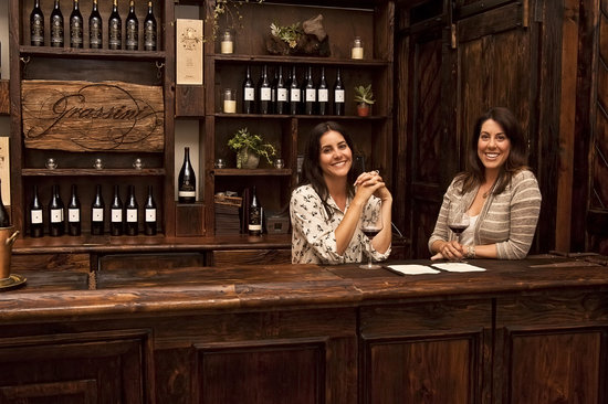Grassini Family Vineyards: Mandy and Katie Grassini at the Tasting Room