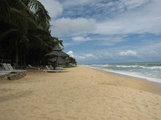 Thien Hai Son Resort: beach at the backyard