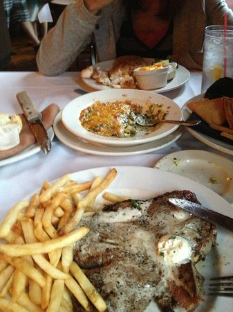 Don Hall's Old Gas House Restaurant & Bar: Delmonico Steak, and Icelandic Cod in the background