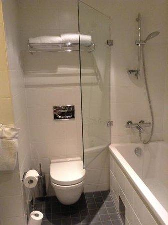 Scandic Holmenkollen Park: the small bathroom in jr suite