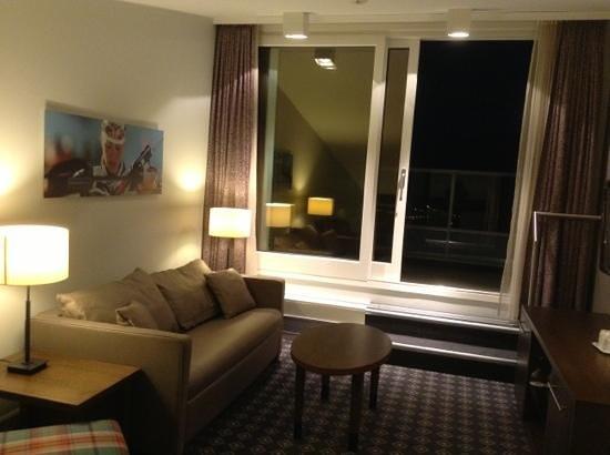 Scandic Holmenkollen Park: the mezzanine tv room in jr suite