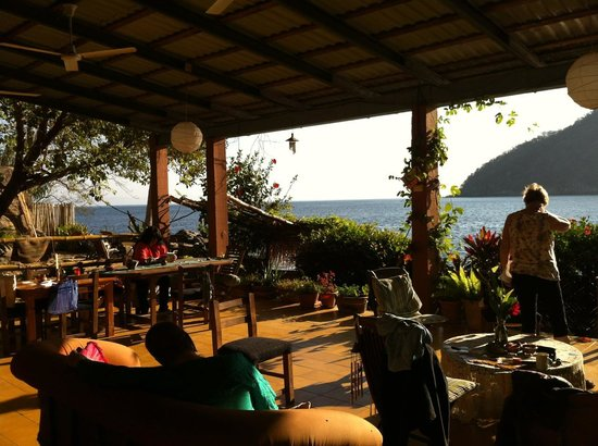 El Jardin Yelapa: This is the common area, note open air feel