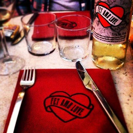 Restaurant Aiguaclara: Fet amb love