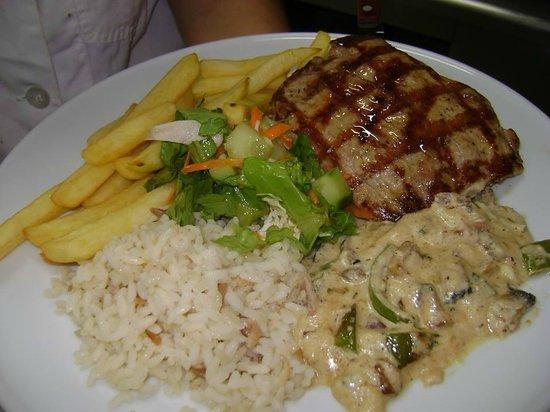 Sirtaki: stuffed pork fillet