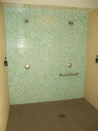 Mercure Dinan Port : Vue de la douche de la piscine et SPA