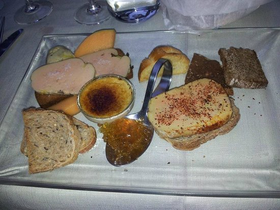 La Table d'Oste : Assortiment de foie gras menu dégustation