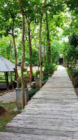 E-Outfitting Resort Doikham: ทางเดินเชื่อมต่อแต่ละจุด