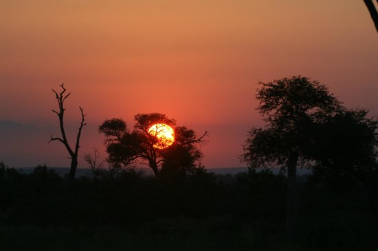 Waterbuck Game Lodge: sunset