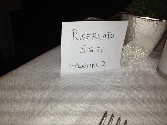 Greka' Restaurant: Riservato