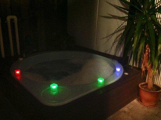 Fenton Court Motel : Spa pool by night