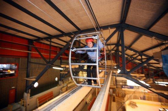 Indoor Seilpark: Hamsterrad
