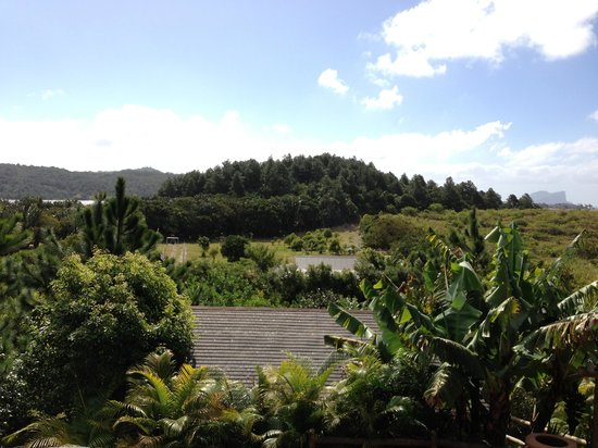 7 Cascades: View from the dining terrace, towards Tamarind Falls Reservoir. Just had a great lunch, after fi
