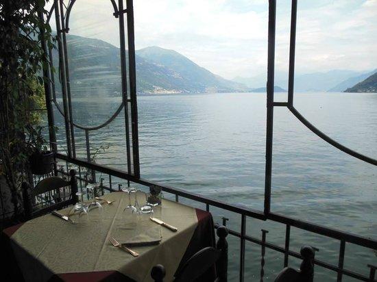 Crotto dei Platani: Vista dall'interno del ristorante