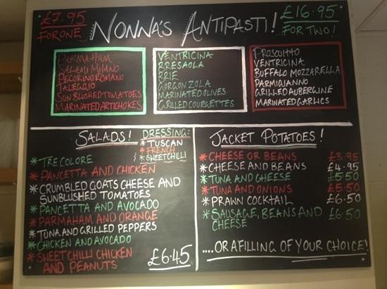 Nonna Cappuccini's: New Antipasti menu