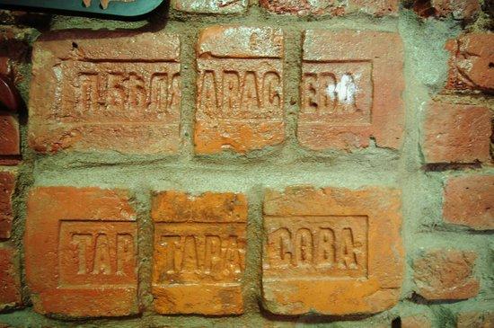 SSHostel On Nevskiy 130: Стены сложены из кирпичей 1800 года. Фамильные кирпичи.