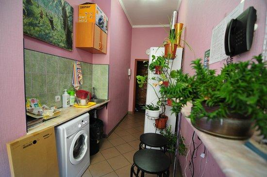 SSHostel On Nevskiy 130: Кухня не велика, но все необходимое для вашего комфорта здесь есть.