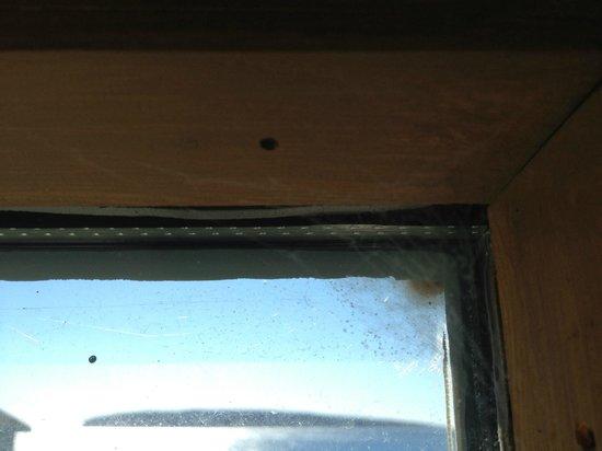 Riotel Perce: Toiles d'araignées sur des vitres n'ayant pas vu un chiffon depuis bien longtemps