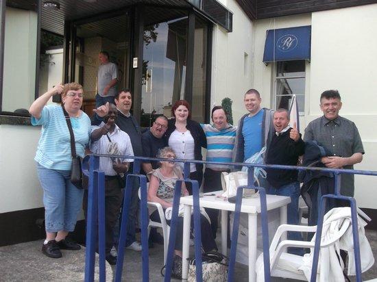 Riviera Hotel: outside table area,