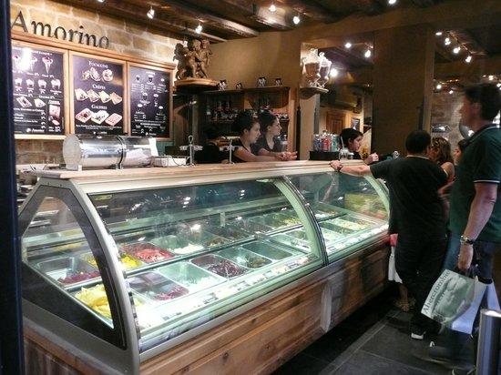 Amorino : The impressive counter!
