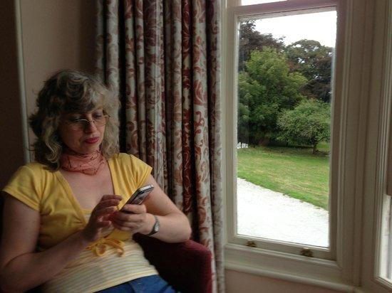 Tredethy House: Ausblick aus unserem Zimmer