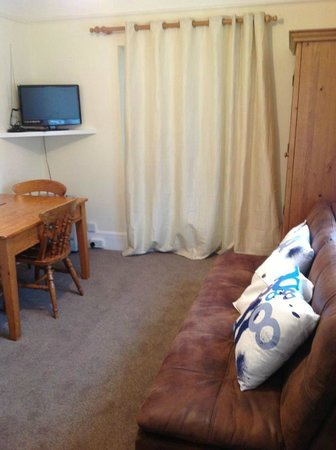 Pear Tree Cottage Bed and Breakfast: the guest suites private lounge/sofa bed