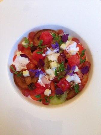 Duo Restaurant: tomates, mozzarella fumée, pastèques