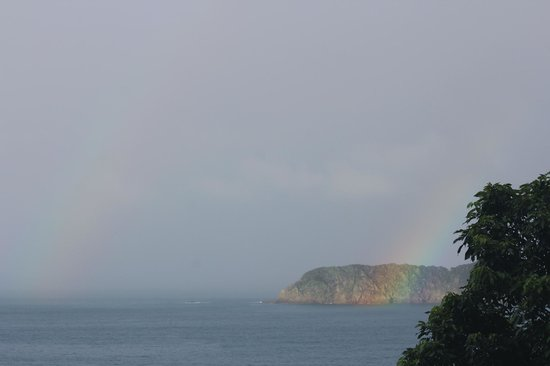 Hotel Costa Verde: Its a double rainbow! (all the way across the sky!)