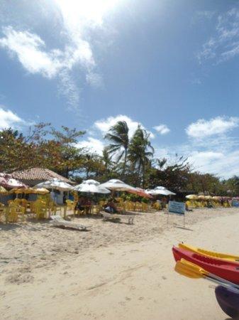 Cabana Caribe: Messas e quarda sol sem cobrança de taxa