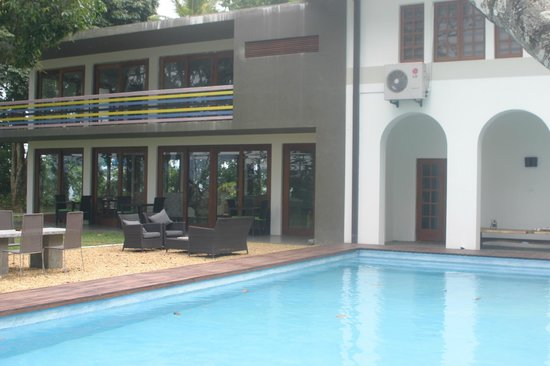 Elephant Stables: pool and outside seating area