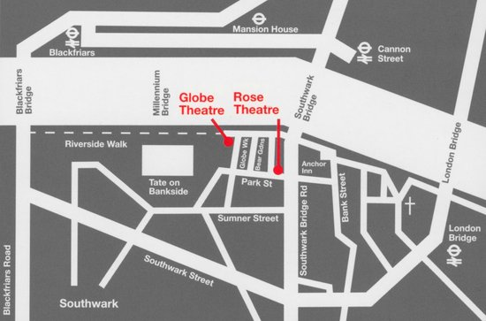 The Rose Theatre: Rose Map - Location - 56 Park street