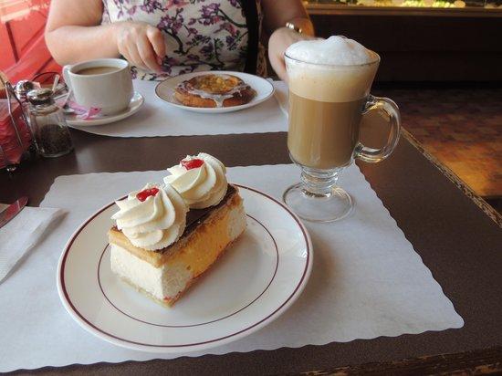 Danish Mill Bakery: Cappuccino and Napoleon Slice - Yummy!