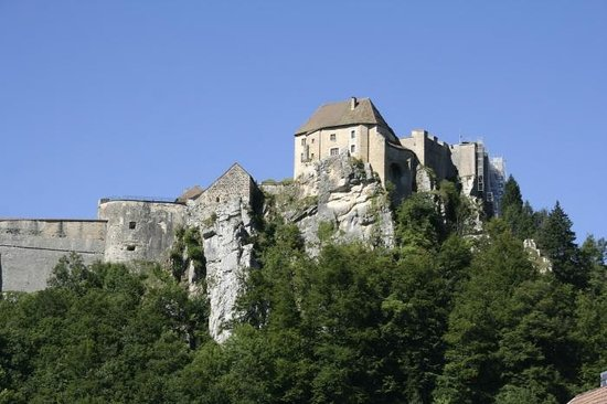 Château de Joux : View  from the town