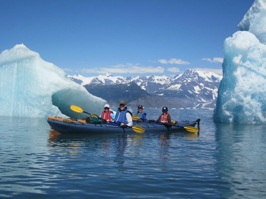 Get Up and Go! Tours: kayaking through ice bergs