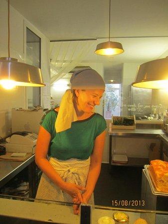 D'aquí: Our lovely chef/ hostess/ owner of restaurant