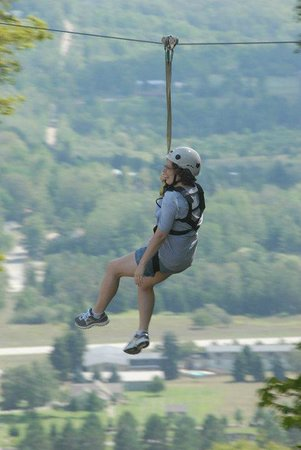 Zipline Adventure at Boyne Mountain: You start at the top of the mountain and work your way down....great views!