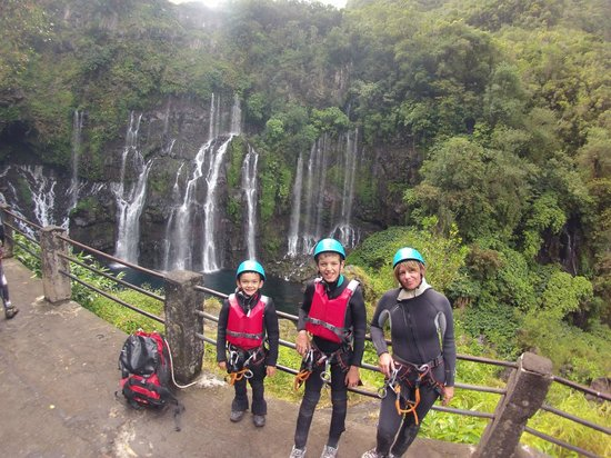 Canyoning la Reunion: Canyoning cascade de Langevin