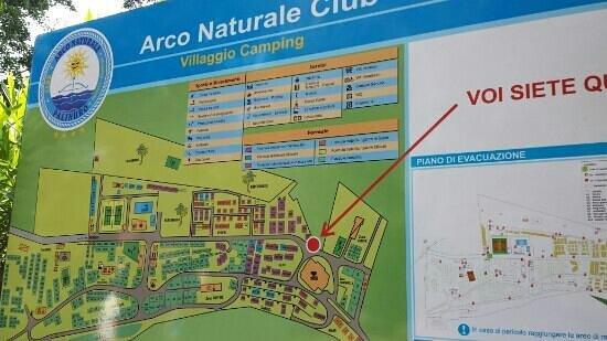 Arco Naturale Club: la mappa