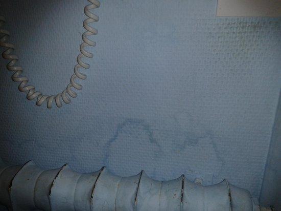 Auberge de l'Orisse: Au dessus du radiateur dans la salle de bain