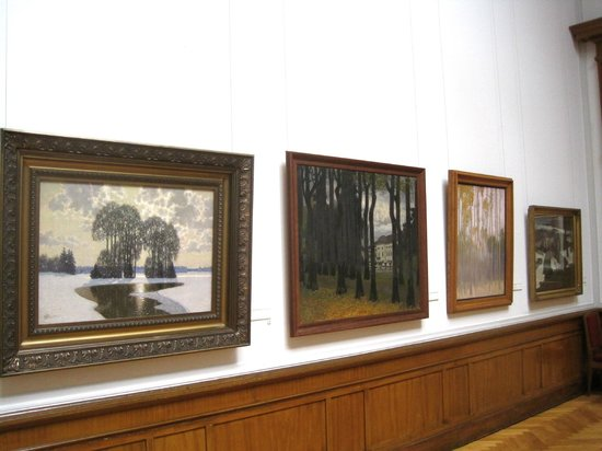 Latvian National Museum Of Art: Landscape paintings by Latvian Impressionist painter Vilhelms Purvitis