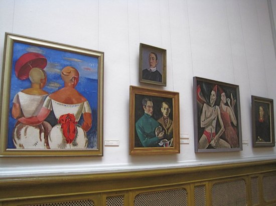 Latvian National Museum Of Art: Wall of early 20th-century Latvian paintings