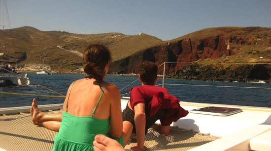 Santorini Sailing Center: Checking out the views