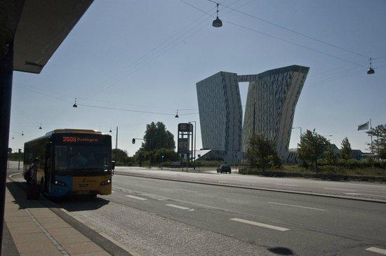 Danhostel CopenHagen Amager: Fermata del Bus di fronte al BellaCenter, subito fuori dall'ostello