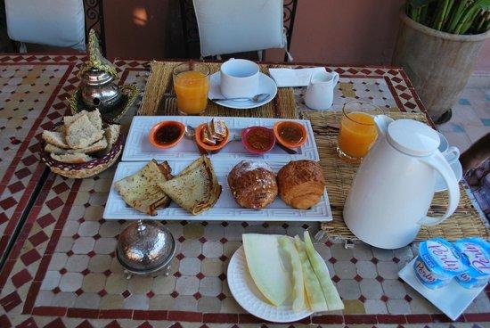 Riad Jona : Le petit déjeuner